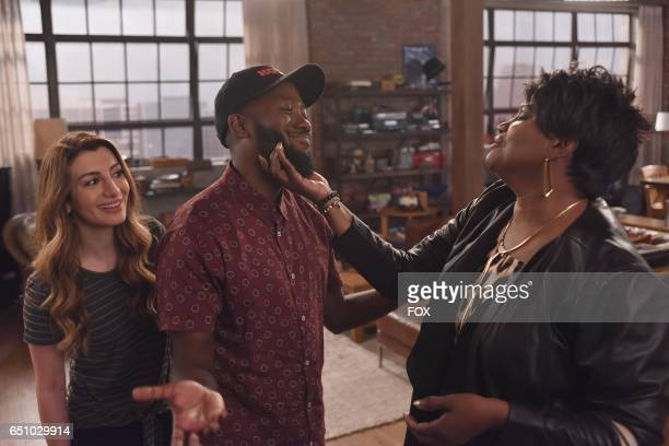 Guest star Nasim Pedrad Lamorne Morris and guest star Anna Maria Horsford in the 'Misery' episode of NEW GIRL airing Tuesday March 21 on FOX