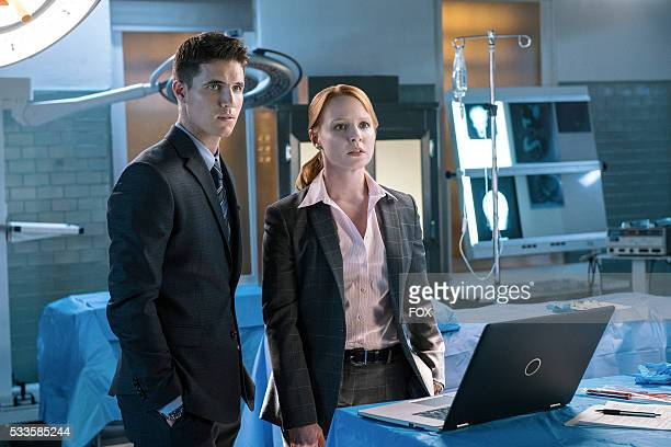 Guest star Robbie Amell and guest star Lauren Ambrose in the My Struggle II season finale episode of THE XFILES airing Monday Feb 22 on FOX