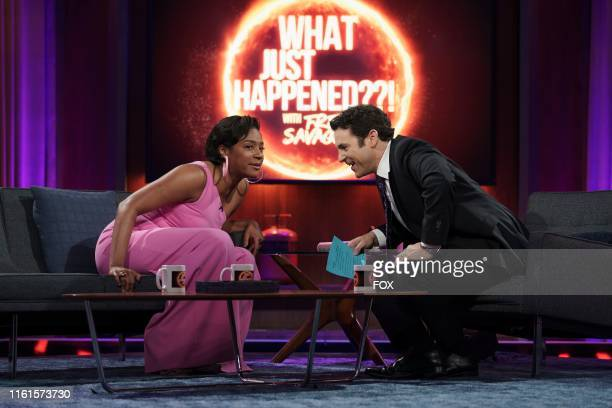 Guest star Tiffany Haddish and host Fred Savage in the Parents episode of WHAT JUST HAPPENED WITH FRED SAVAGE airing Sunday July 28 on FOX