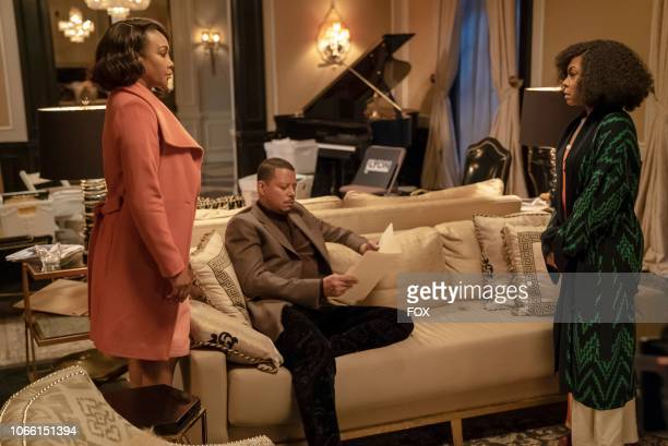 """Guest star Vivica A. Fox, Terrence Howard and Taraji P. Henson in the """"Master of What is Mine Own"""" episode of EMPIRE airing Wednesday, Nov. 28 on FOX."""