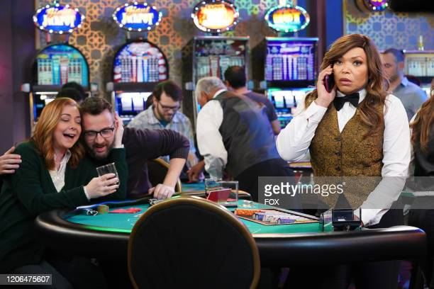Guest stars Alyson Hannigan and Eddie Kaye Thomas and Tisha Campbell in the Couples Friends episode of OUTMATCHED airing Thursday Mar 12 on FOX