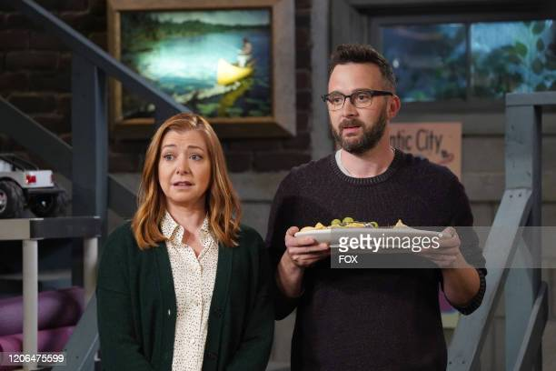 Guest stars Alyson Hannigan and Eddie Kaye Thomas in the Couples Friends episode of OUTMATCHED airing Thursday Mar 12 on FOX