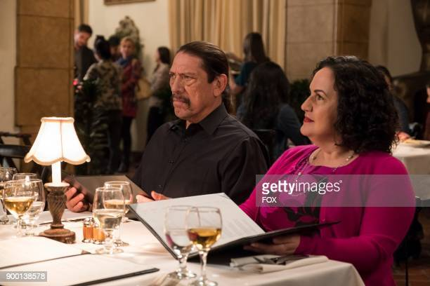 Guest stars Danny Trejo and Olga Merediz in the Game Night Godfather special one hour episode of BROOKLYN NINENINE airing Tuesday Dec 12 on FOX