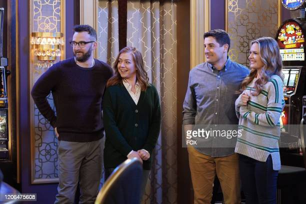 Guest stars Eddie Kaye Thomas and Alyson Hannigan Jason Biggs and Maggie Lawson in the Couples Friends episode of OUTMATCHED airing Thursday Mar 12...
