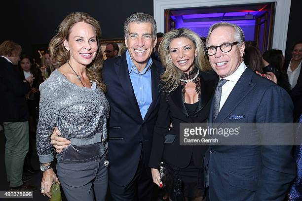 Guest Steve Varsano Lisa Tchenguiz and Tommy Hilfiger attend a Contemporary Art party hosted by Tommy Hilfiger Dylan Jones and Sotheby's at Sotheby's...