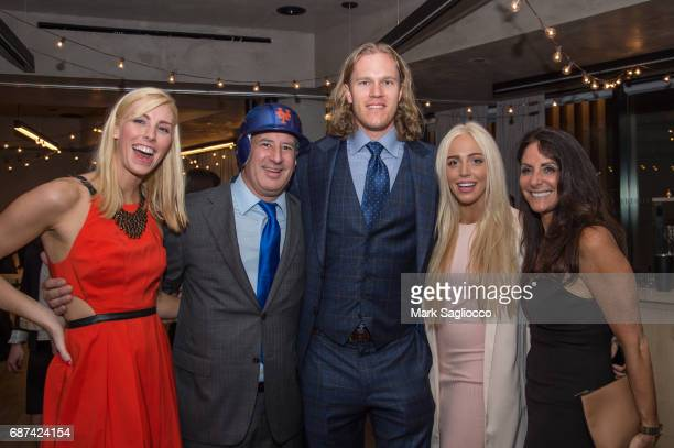 Guest Steven Mitchell Noah Syndergaard Alexandra Cooper and Lynn Scalli attend Gotham Magazine's Celebration of it's Late Spring Issue with Noah...