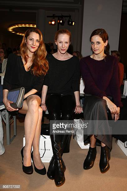 Guest Susanne Wuest and Anja Knauer attend at the Isabell de Hillerin show as part of Der Berliner Mode Salon during the MercedesBenz Fashion Week...