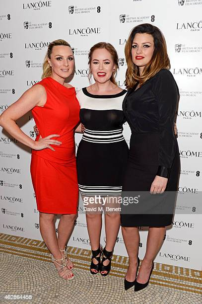 Guest Tanya Burr and Pixiwoo attend the Lancome Loves Alma PreBAFTA party at Cafe Royal on February 6 2015 in London England