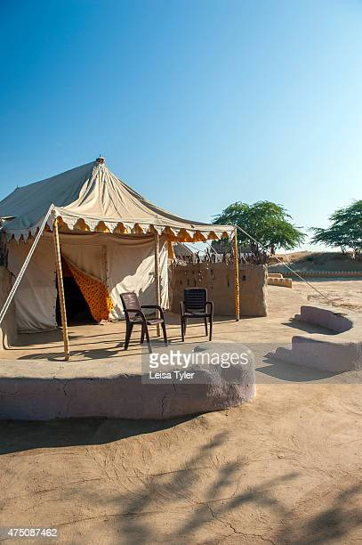 HODKA/ BANNI BHUJ GUJARAT INDIA A guest tent at Shaam E Sarhad Village Resort an agrotourism project set up by India's Ministry of Tourism and the...