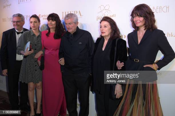guest Tess Lauvergne Valerie Perrin Claude Lelouch Anouck Aimee and Marianne Denicourt attend the HFPA Participant Media Honour Help Refugees' during...
