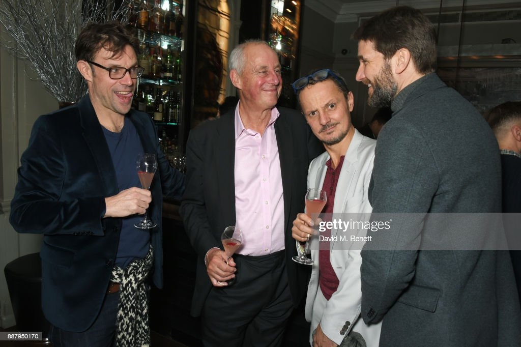 guest, Tim Yeo, Jonathan Yeo and Kris Thykier attend a private view after party for new Royal Academy Of Arts exhibition 'From Life' hosted by artist Jonathan Yeo at Brown's Hotel on December 7, 2017 in London, England.