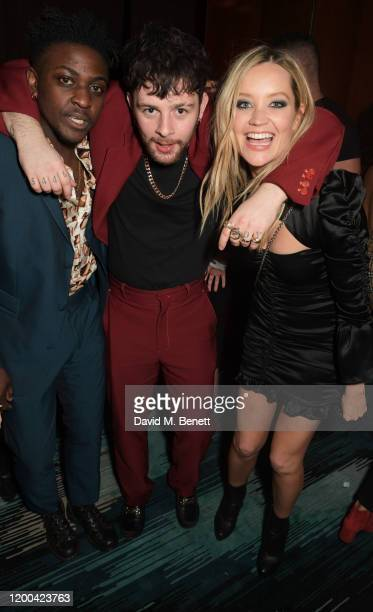 Guest Tom Grennan and Laura Whitmore attend the NME Awards after party in association with Copper Dog at The Standard on February 12 2020 in London...