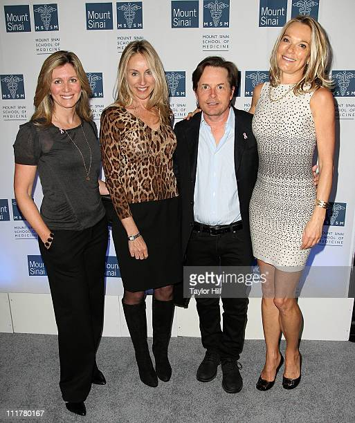 A guest Tracy Pollan actor Michael J Fox and Dr Eva AnderssonDubin attend the opening of Dubin Breast Center at the Tisch Cancer Institute at Mount...
