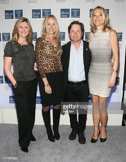 A guest Tracy Pollan Michael J Fox and Dr Eva AnderssonDubin attend the opening of Dubin Breast Center at the Tisch Cancer Institute at Mount Sinai...