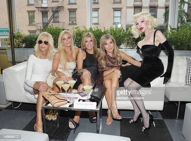 Guest TV Personalities Alexia Echevarria Ana Quincoces and Marysol Patton and Amanda Lepore attend the GLAAD Manhattan Summer Event at Humphrey at...