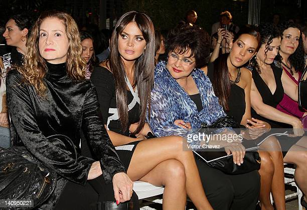 Guest TV personality Marisol Gonzalez Carolina Moran and actress Lourdes Munguia attend the Daniel Espinosa collection jewelry 2012 fashion show at...