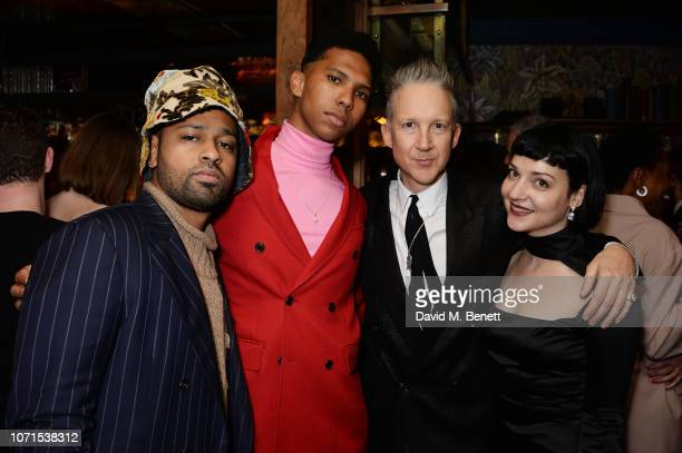 Guest Tyler Mitchell Jefferson Hack and Olivia Singer attend a party hosted by Katie Grand and Jefferson Hack in honour of Miuccia Prada winner of...