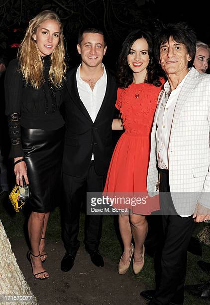 Guest Tyrone Wood Sally Humphries and Ronnie Wood attend the annual Serpentine Gallery Summer Party cohosted by L'Wren Scott at The Serpentine...