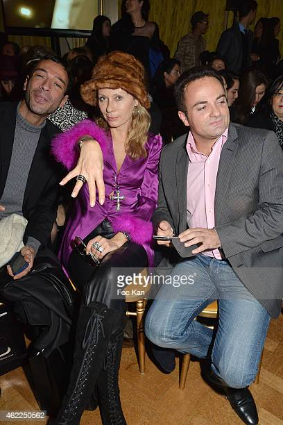 A guest Valerie Steffen Laurent Amar attend the Legends of Monaco show as part of Paris Fashion Week Haute Couture Spring/Summer 2015 on January 25...
