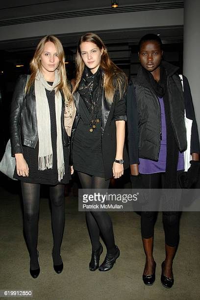 Guest Vamwerkova Susana Ledprichova and Ataui Deng attend A MILK GALLERY PROJECT Presents TRANSIT by ALEXI LUBOMIRSKI at Milk Gallery on October 21...