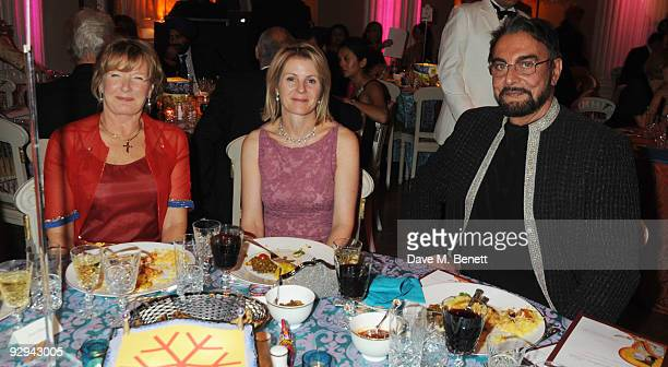 Guest Viscountess Serena Linley and Kabir Bedi attend the Royal Rajasthan Gala on November 9 2009 in London England