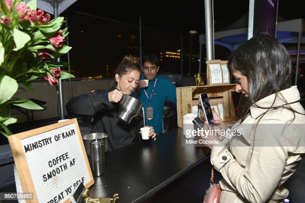 Guest visits the Ministry of Kaapi booth at The Food Network & Cooking Channel New York City Wine & Food Festival Presented By Coca-Cola -...