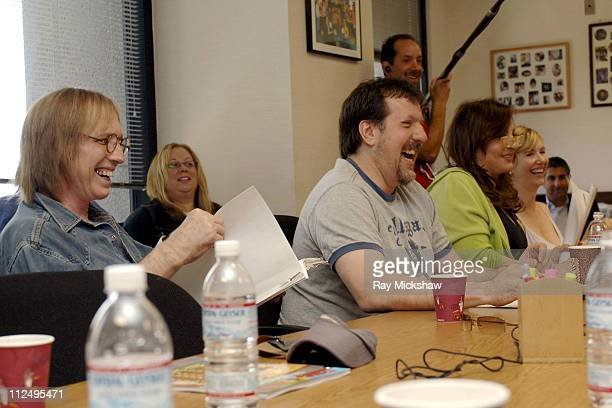 Guest voice Tom Petty as Lucky exec producer John Altschuler Kathy Najimy as Peggy Hill and Ashley Gardner as Nancy Gribble during the table read to...