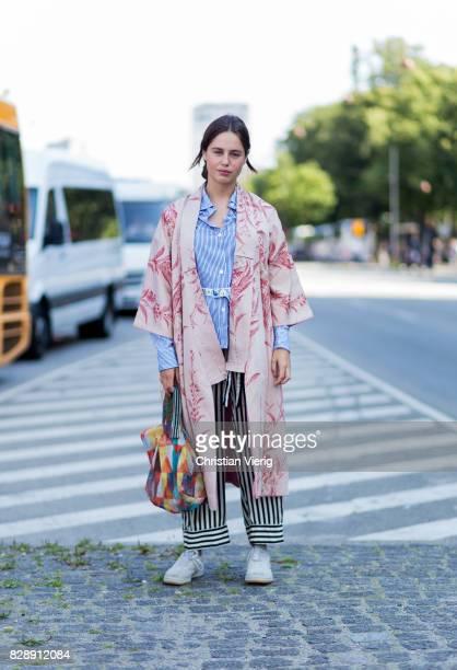 A guest wearing a kimono on August 09 2017 in Copenhagen Denmark