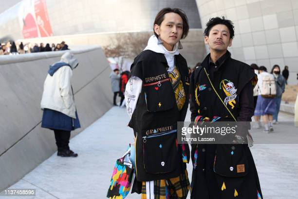 Guest wearing black vest is seen at the Hera Seoul Fashion Week 2019 F/W at Dongdaemun Design Plaza at Dongdaemun Design Plaza on March 22, 2019 in...