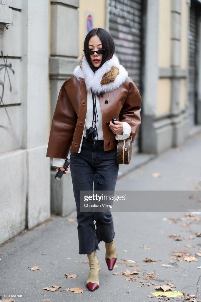 Street Style: February 25 - Milan Fashion Week Fall/Winter 2018/19