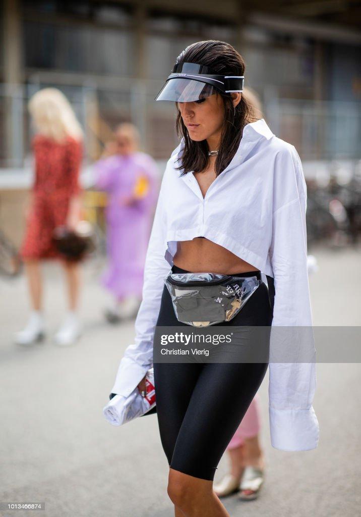 Street Style - Copenhagen Fashion Week Spring/Summer 2019 - Day 2 : News Photo