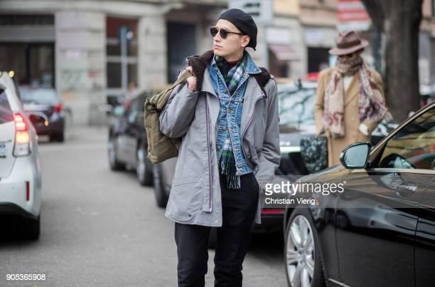 Street Style Men S Fashion Week Fall Winter 2018 19 Bilder Und Fotos