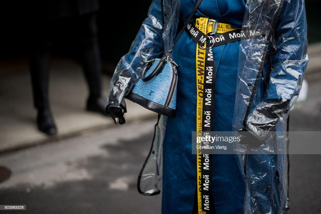 Street Style: February 23 - Milan Fashion Week Fall/Winter 2018/19 : News Photo
