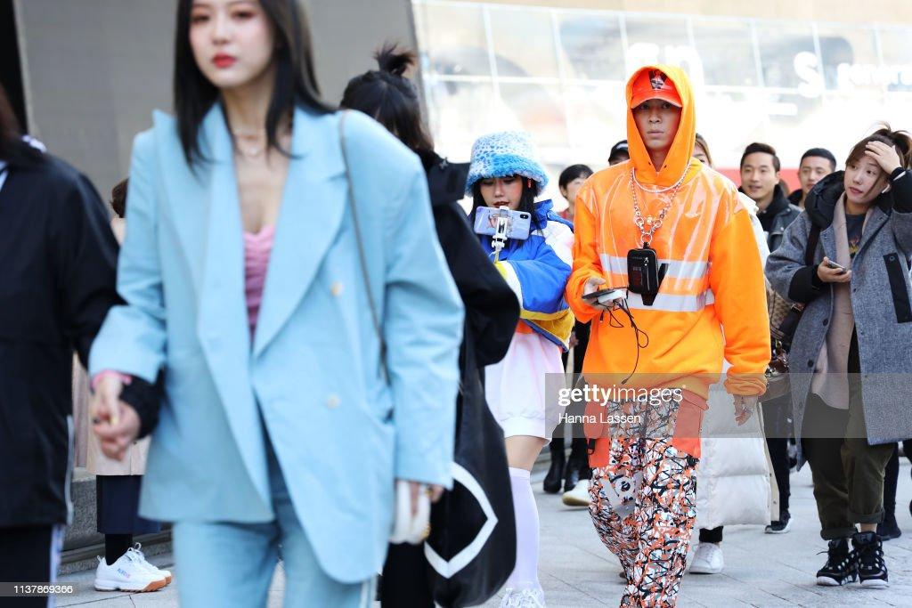 KOR: Street Style - Hera Seoul Fashion Week 2019 F/W - Day 5