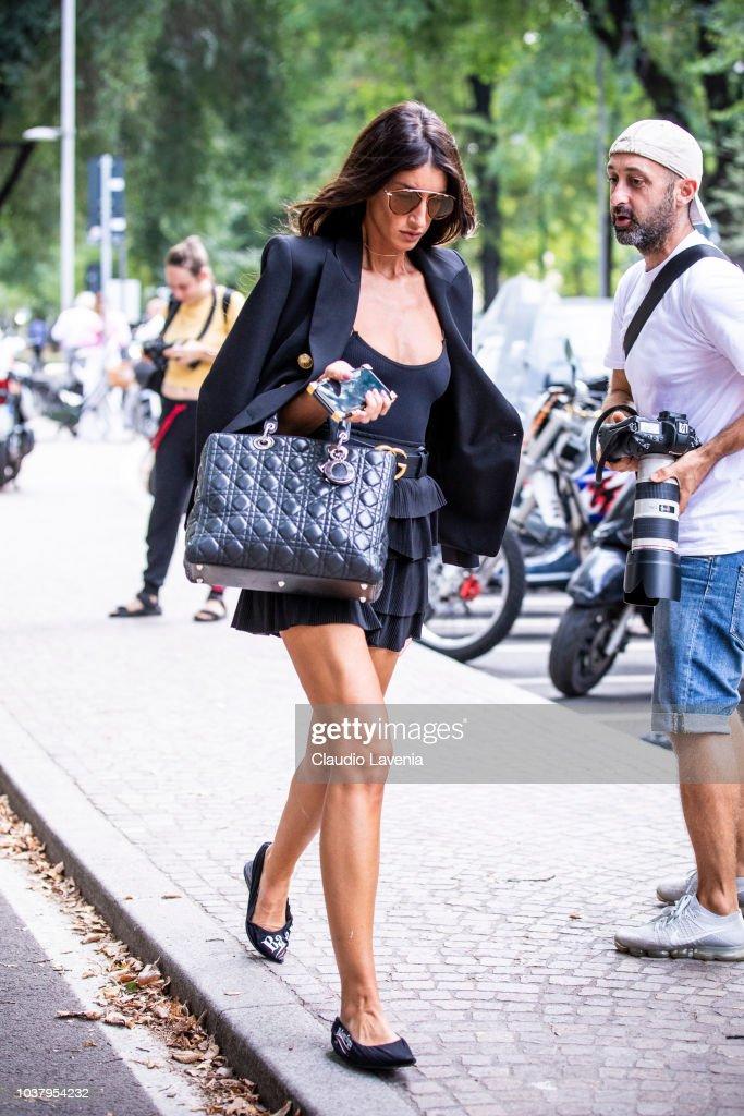 0e3c448af Street Style: September 22 - Milan Fashion Week Spring/Summer 2019 : News  Photo