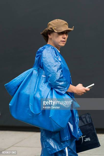 A guest wears a Balenciaga on day 3 of London Collections Men on June 12 2017 in Paris France
