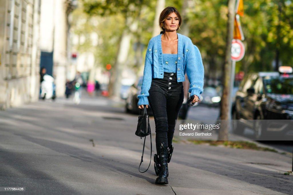 Street Style : Paris Fashion Week - Womenswear Spring Summer 2020 : Photo d'actualité