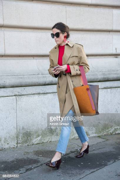 A guest wears a Celine bag on day 3 during Paris Fashion Week Autumn/Winter 2017/18 on March 2 2017 in Paris France