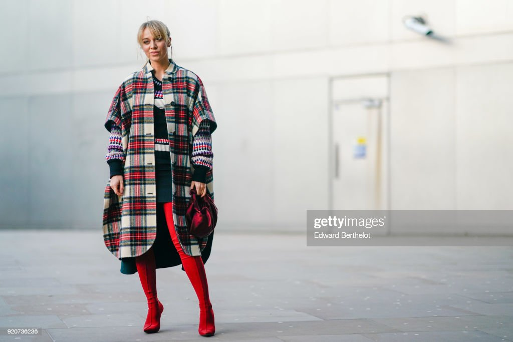 Rad in Plaid: Street Style at LFW 2018