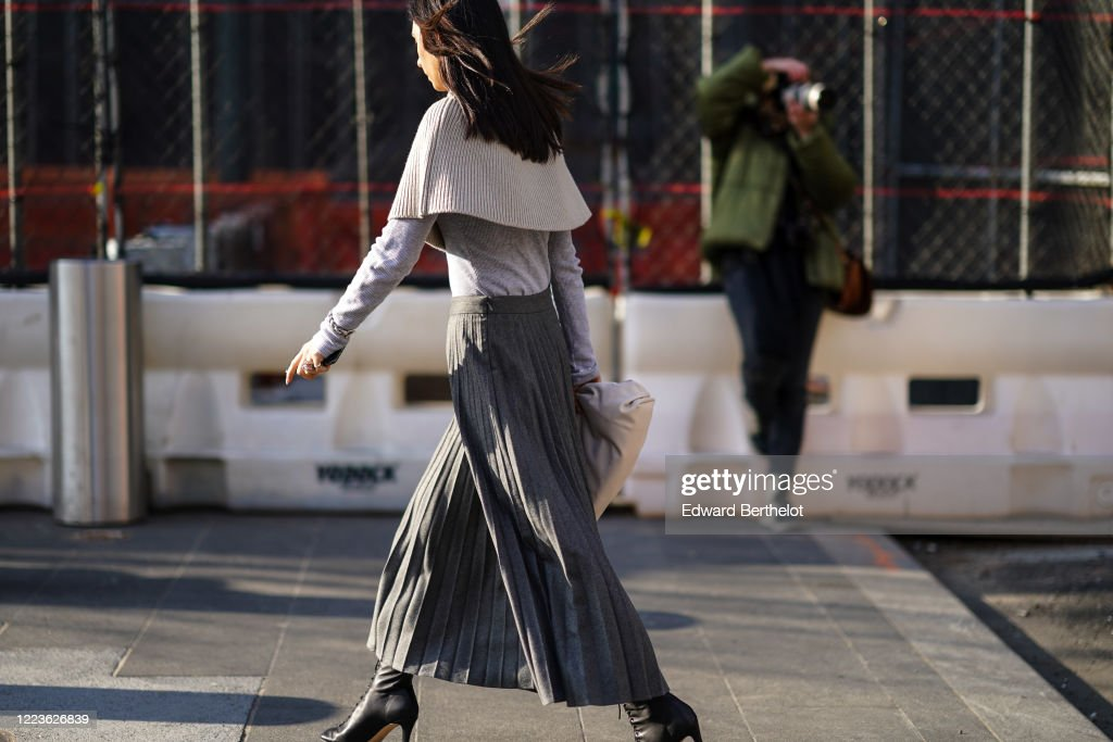 Street Style - Day 4 - New York Fashion Week February 2020 : News Photo