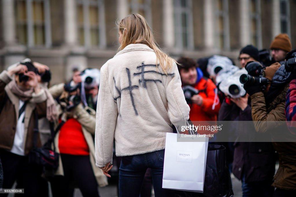 c124ec39e083 Street Style   Paris Fashion Week Womenswear Fall Winter 2018 2019   Day  Five