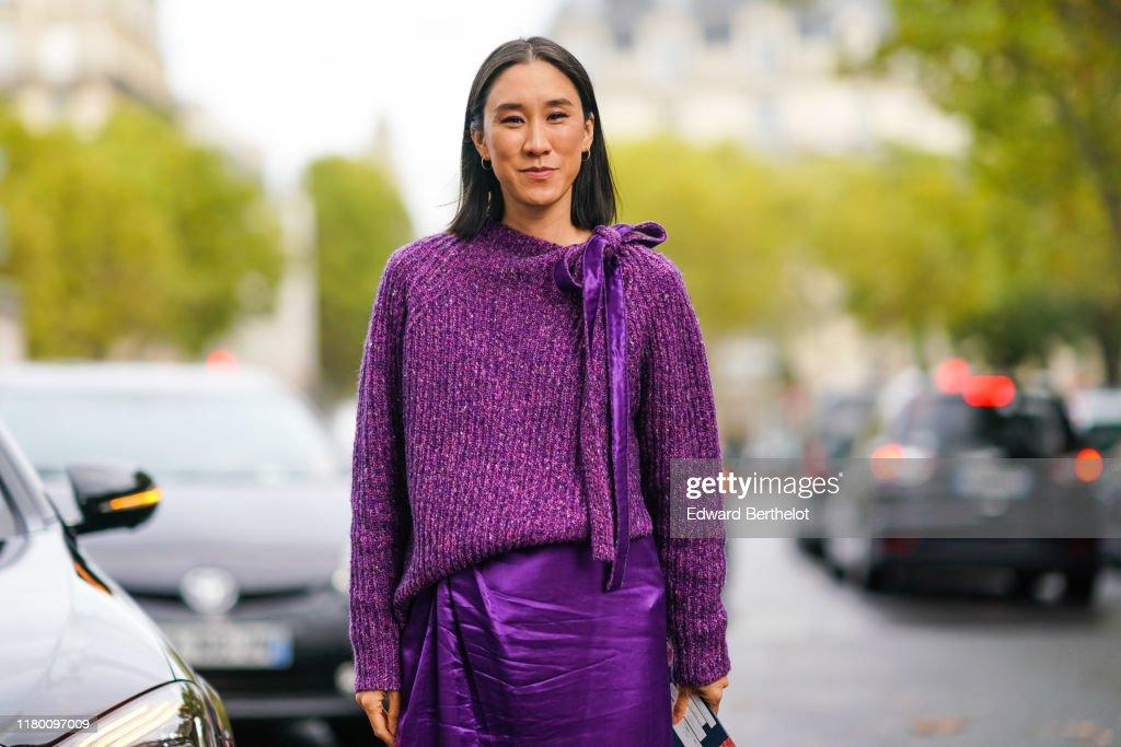 Street Style : Paris Fashion Week - Womenswear Spring Summer 2020 : Day Nine : Photo d'actualité