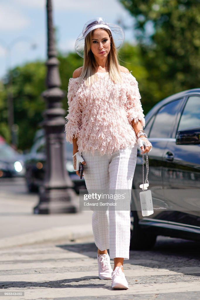 08c5317cf56 Street Style   Day Three - Haute Couture Fall Winter 2018 2019   News Photo