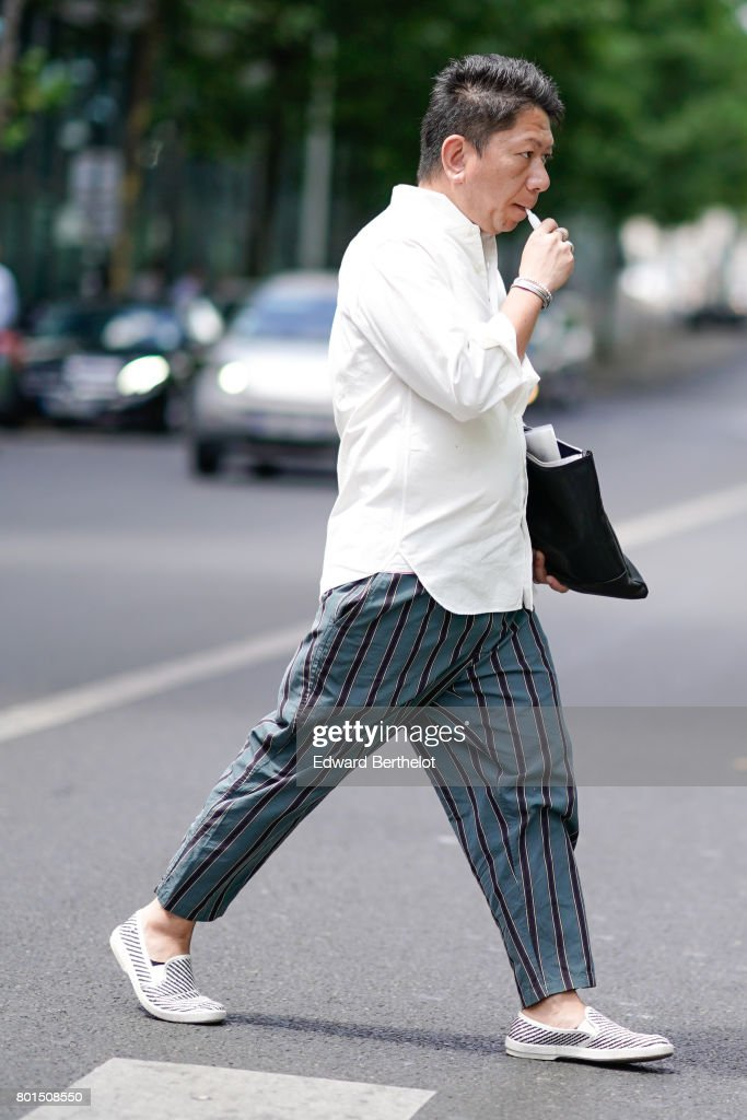 d5e5a81eff Street Style - Paris Fashion Week - Menswear Spring/Summer 2018 : Day Five :