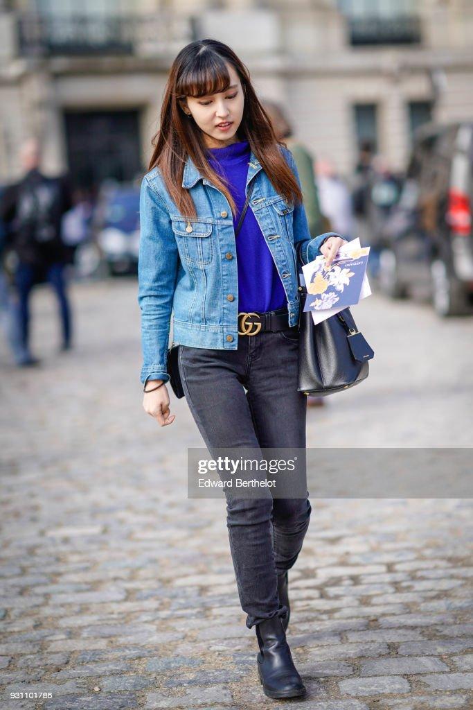 Street Style : Paris Fashion Week Womenswear Fall/Winter 2018/2019 : Day Eight : Foto di attualità