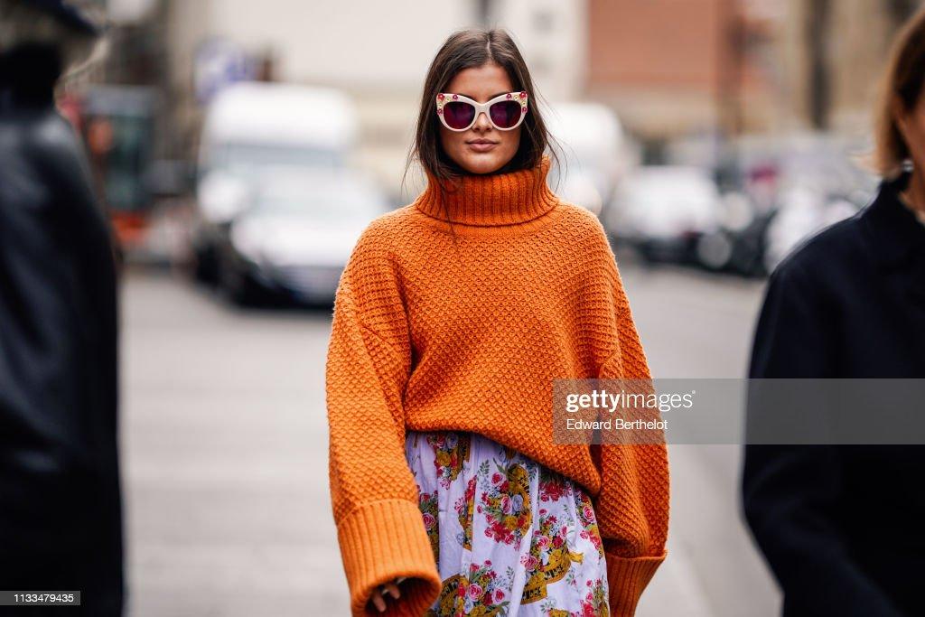 Street Style - Paris Fashion Week Womenswear Fall/Winter 2019/2020 : Day Seven : Photo d'actualité