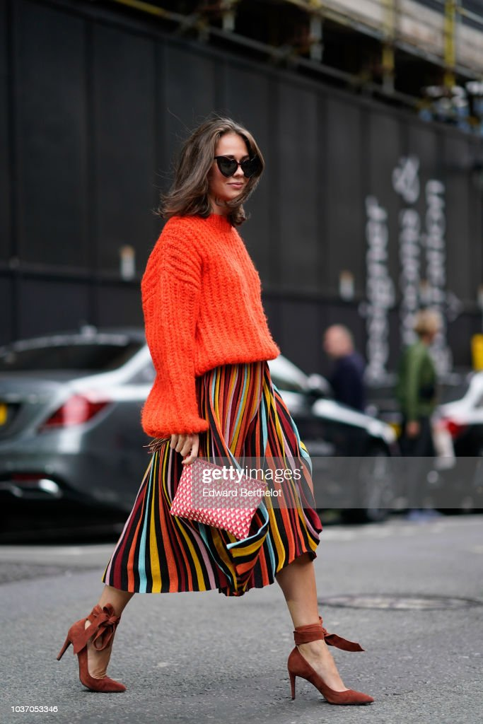Street Style - LFW September 2018 : Photo d'actualité