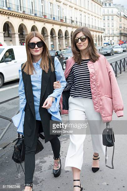 Guest wears Celine sunglasses Balenciaga bag and shoes 2nd Date Shirt and Mango trousers with Fashion Blogger Valerie Husemann who wears a Mango...