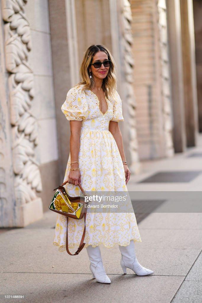 Street Style: February 20th - Milan Fashion Week Fall/Winter 2020-2021 : Nieuwsfoto's