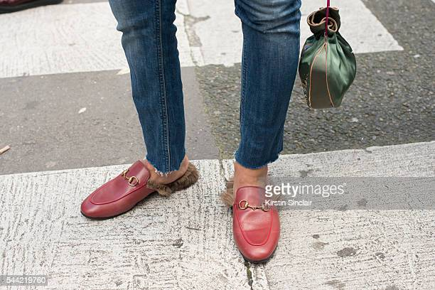 A guest wears Gucci shoes on day 1 of Paris Collections Men on June 22 2016 in Paris France A Guest